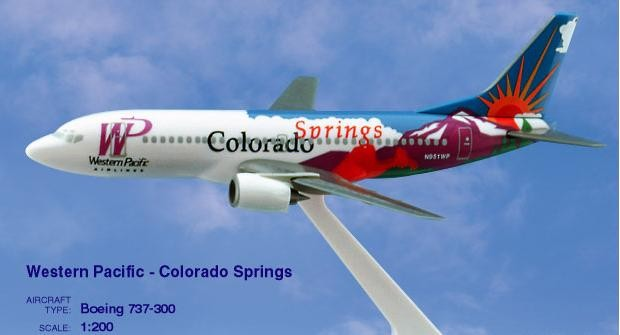 Long Prosper - 1/200 - Boeing 737 300 - Western Pacific Airlines COLORADO - 2073730