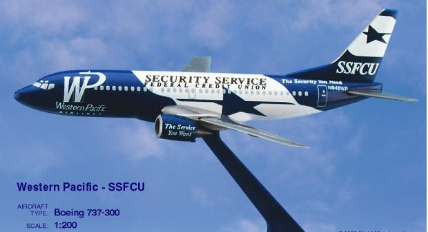 Long Prosper - 1/200 - Boeing 737 300 - Western Pacific Airlines SSFCU - 2073732