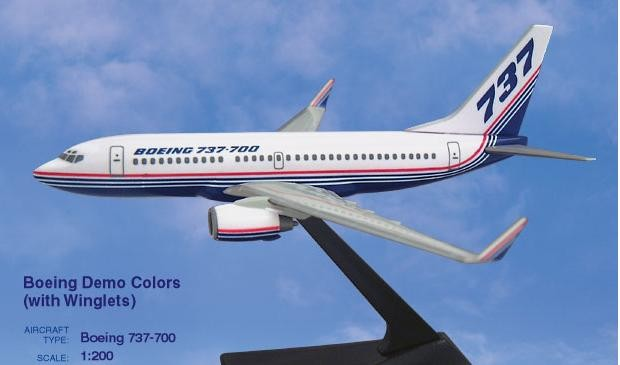 Long Prosper - 1/200 - Boeing 737 700 - House Colour mit WINGLETS oc - 2073745