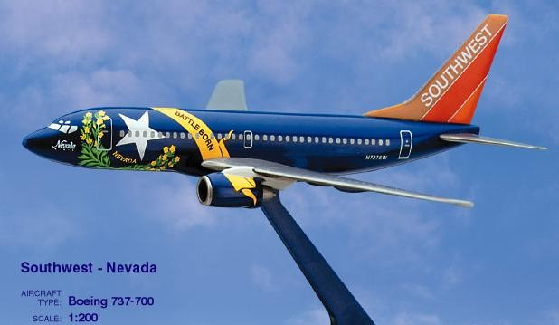 Long Prosper - 1/200 - Boeing 737 700 - Southwest Airlines NEVADA - 2073757