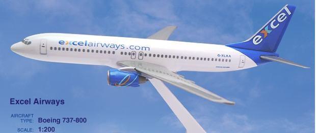 Long Prosper - 1/200 - Boeing 737 800 - Excel Airways - 2073775