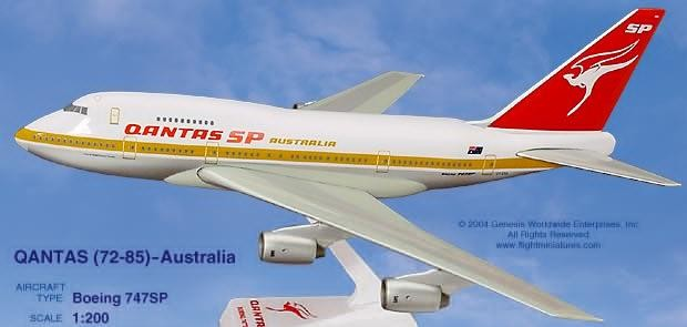 Long Prosper - 1/200 - Boeing 747SP - Qantas Airways  - 2074732