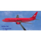 PPC - 1/200 - Boeing 737 800 - Sterling European Airlines RED - 2733